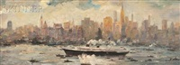 view of manhattan from the east river by max kuehne