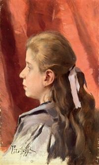 profilo di giovanetta by tito lessi