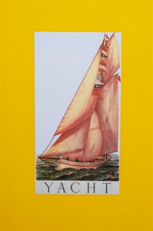 y is for yacht from the alphabet series by peter blake