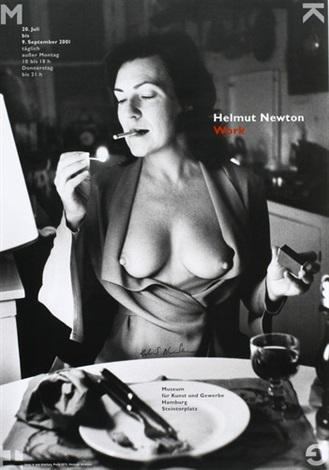 June in our kitchen Paris exhibition poster by HelmutNewton