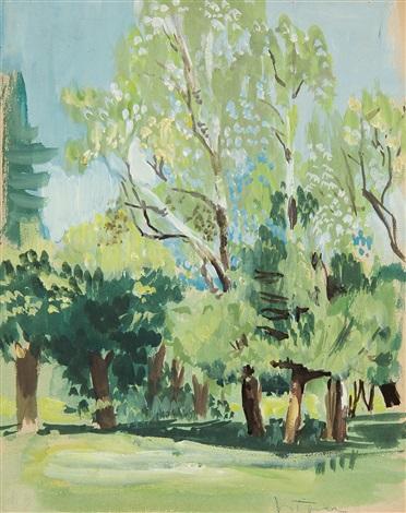 sommerliche landschaft by hans böhler