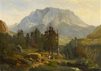 bergmassiv in den alpen by august friedrich wilhelm nothnagel