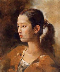 女子肖像 (portrait) by liu wen