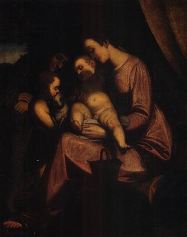 madonna col bambino san giovannino e santanna by giovanni battista paggi