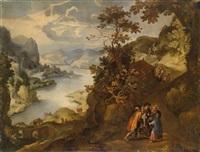 christus und die zwei pilger auf dem weg nach emmaus by paul bril