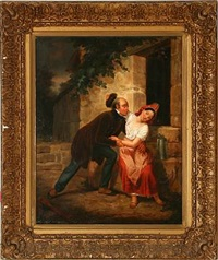 the flirting man is loosing his wig by marie-alexandre (menut) alophe