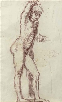 study of a male figure by hans von marees
