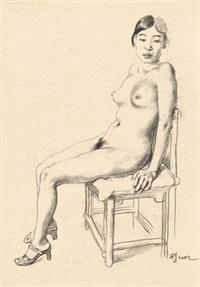 人体素描 (body sketch) by chen danqing