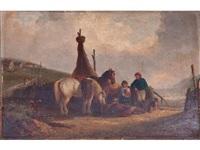 paisaje de invierno con figuras by thomas smythe