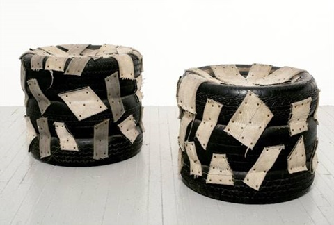 untitled tire chairs 2 works by nari ward