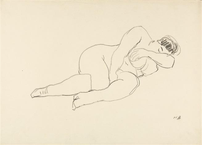 weibliche akte (2 works) by hans böhler