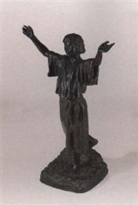 mädchen mit hocherhobenen armen by eugène comte d' astanières
