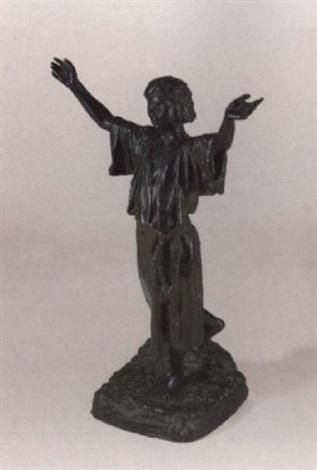 mädchen mit hocherhobenen armen by eugène comte d astanières