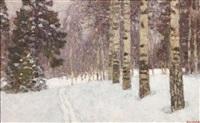 winterlicher wald by rilov