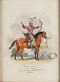 persian warrior, hindu rajah (2 works) by agostino aglio
