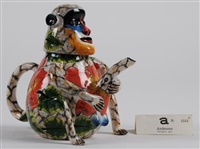 monkey teapot by ardmore ceramics