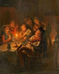 geselliges musizieren in der taverne by jan hendrik van grootvelt