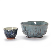 bowls (set of 2) by lisbeth munch-petersen