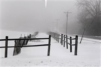 untitled - winter road by theodore cohen