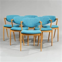 side chairs (model 42) (set of 6) by kai kristiansen