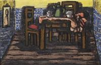 intérieur mit gedecktem tisch by johann georg müller
