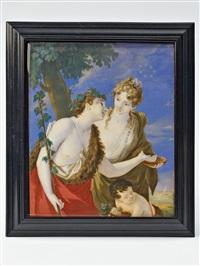 bacchus und ariadne by bernard (goupy) lens iii