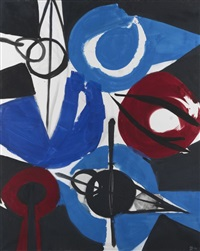 irisch blau by ernst wilhelm nay