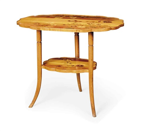 two tier occasional table by émile gallé