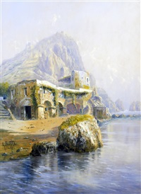 the coast of capri by giovanni battista