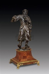 欢乐的小提琴手 纯铜 雕塑 (violoniste heureux) by arnold kasch