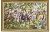 the old parade ring, royal ascot by jack lawrence miller