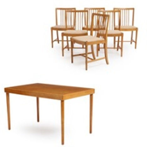Surprising An Ash And Beech Dining Room Comprising Six Chairs And A Customarchery Wood Chair Design Ideas Customarcherynet