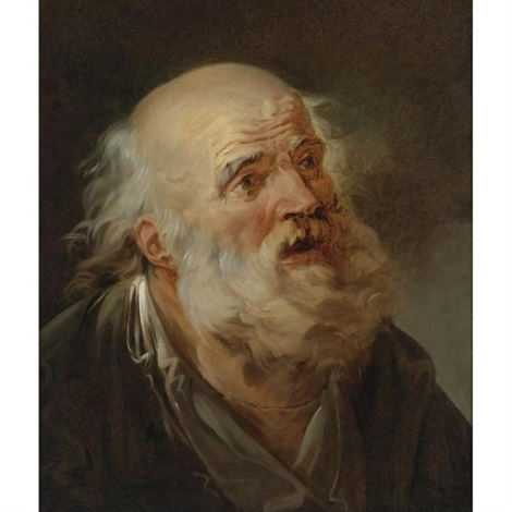 head of an old man by pierre alexandre wille