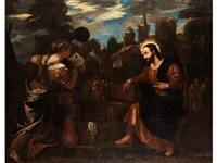 jesus und die samariterin am brunnen by jacopo robusti tintoretto