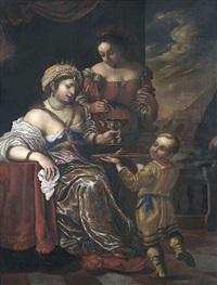 artemisia, königin von karien, gemahlin des mausolos, trinkt die mit ihren tränen vermischte asche ihres mannes by carlo francesco nuvolone