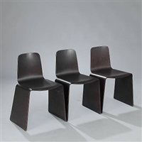voxia-nxt stacking chairs (set of 3) by peter karpf