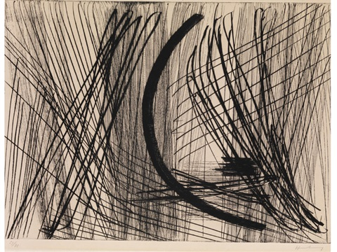 abstrakte komposition in schwarz by hans hartung