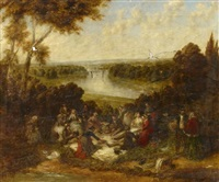 the picnic party by william powell frith