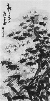 zahlreiche krebse, algen und schilf by yoshitsugu haizan