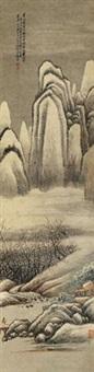 群山积雪 立轴 设色纸本 by jiang jun