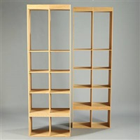 bookcases (pair) by pilat & pilat (co.)