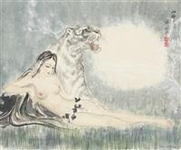 山神图 (lady) by xue linxing