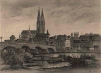 stadtansicht in südfrankreich by albert gottschow