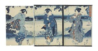 from various series (35 works) (oban tate-e) by utagawa kuniyoshi
