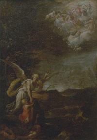 angelo custode, con la gloria celeste sullo sfondo by nicola vaccaro