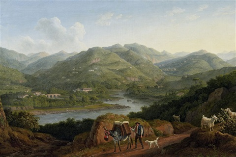 landschaft in der toscana by jacob philipp hackert