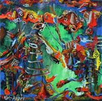 dancing figures by kjeld appel