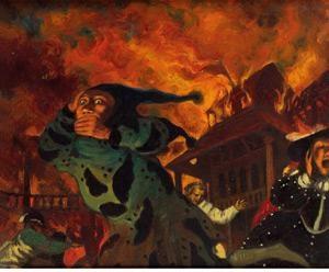 歌剧院着火 (opera on fire) by xia xiaowan