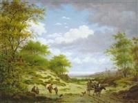 holländische landschaft by gerrit hendrik gobell