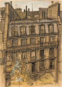 die fassade von 7, rue rachel (+ 2 others, smllr.; 3 works) by franz fedier